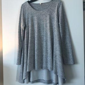 PinkBlush grey tunic sweater